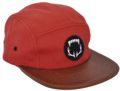 CUSTOM MAKE 5 PANEL CAP & REAR LEATHER BUCKLE ADJUSTER COLOUR #51 FROM COLOUR SWATCH