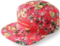 CUSTOM MAKE 5 PANEL FLATBRIM CAP WITH FACTORY FABRIC, PLEASE CHECK WITH US FOR AVAILABLE FABRICS,SIMPLY STATE IN THIS INSTANCE FLORAL.