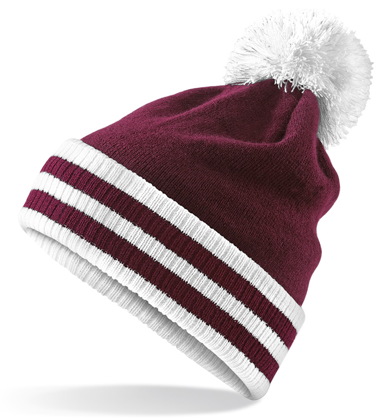 1666df519 Manufactured Direct Custom Made Hand Knit Look Pom Beanies with Pom ...