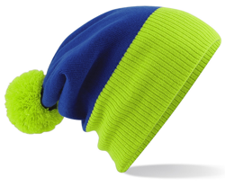 CUSTOM MANUFACTURED DIRECT TO YOU 100% CLASSIC SOFT FEEL ROLL-UP OR LONGLINE BEANIES. CONTRASTING POM POM AND RIBBED CUFF WITH DOUBLE LAYER KNIT, CAN BE MADE IN ANY COLOURWAY 								WITH YOU ARTWORK/DECORATION/TABS