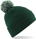 CUSTOM MANUFACTURED DIRECT TO YOU SOFT-TOUCH ACRYLIC CONTRAST 		                         POM POM BEANIES DECORATED WITH YOUR ARTWORK/LOGOS/TAB INC INNER WOVEN LABELS BOTTLE-OFF-WHITE. WE CAN DESIGN ANY COLOUR WAY