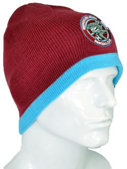 ACRYLIC LONGLINE CABLE KNIT BEANIE WITH TAB CUSTOM KNITTED TO YOUR COLOURS