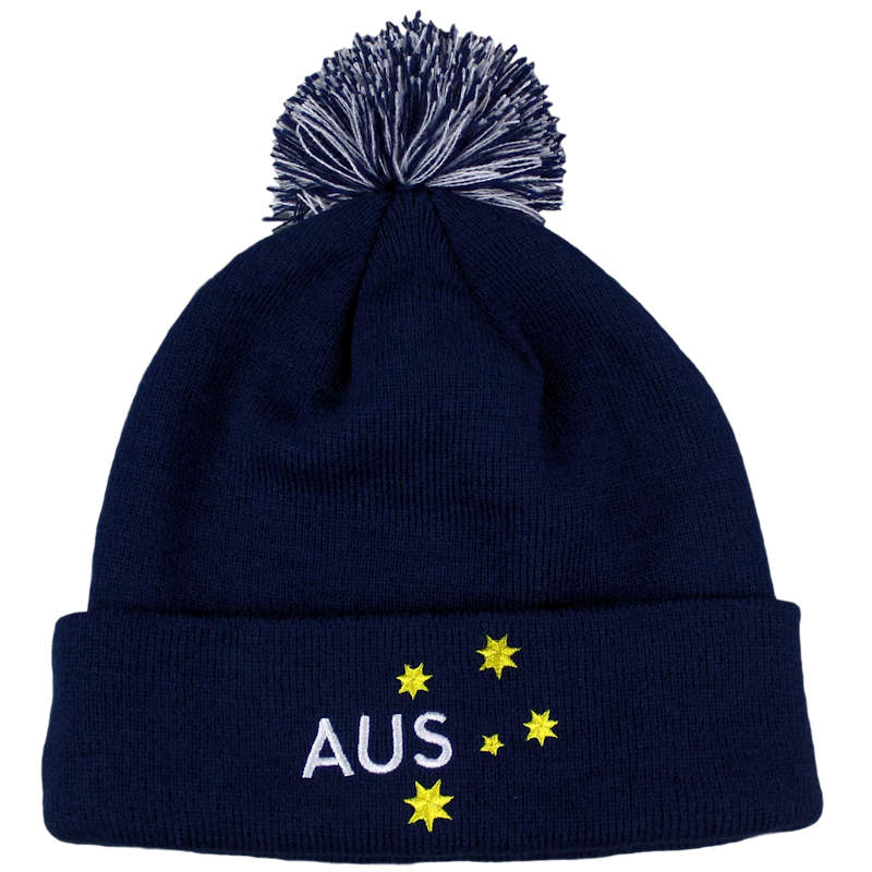 AUSTRALIAN PARALYMPIC COMMITTEE BEANIE FOR WINTER PARALYMPIC GAMES IN  PYEONGCHANG 2018 CUSTOM MAKE ROLL-UP ... 208e2df435bf