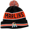 CUSTOM MAKE ROLL-UP OR LONGLINE ACRYLIC BEANIE,MIAMI MARLINS