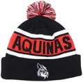 AQUINAS COLLEGE WOLVES HAD US CUSTOM MAKE ROLL-UP ACRYLIC BEANIES. YES WE WILL HELP 