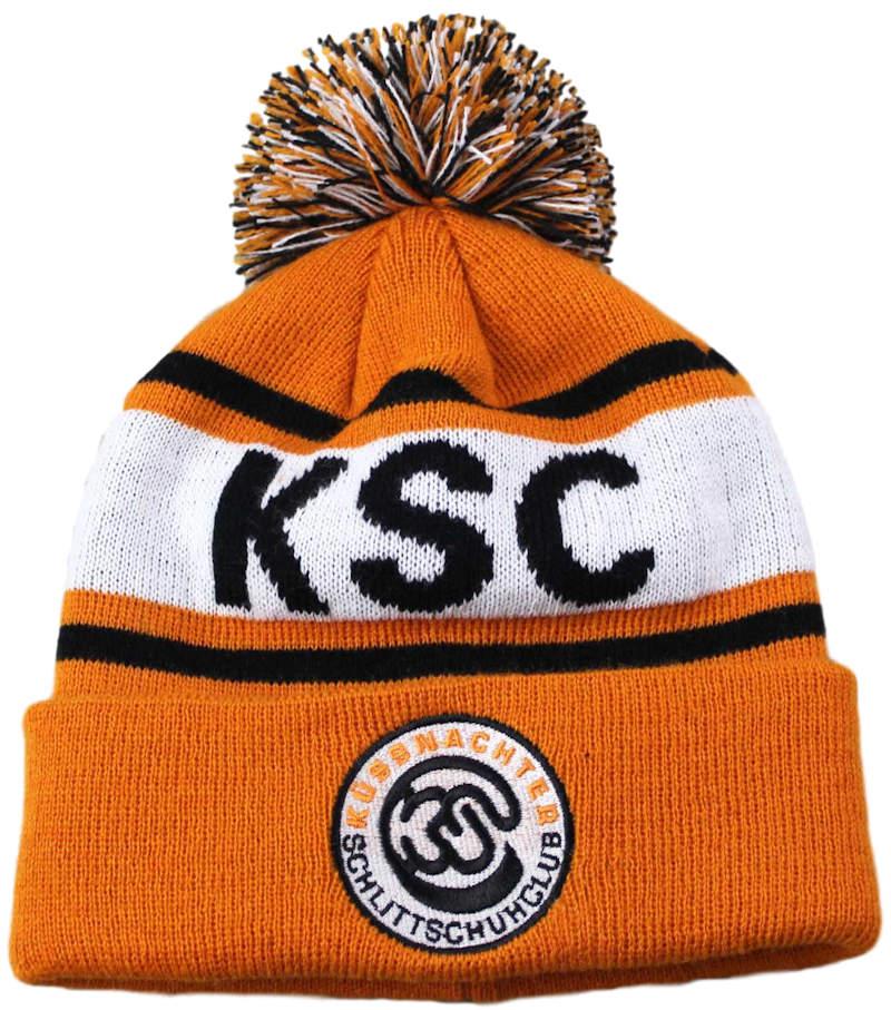 a0d515a4856 ... KSC SPORTS CLUB SWITZERLAND CUSTOM MAKE ROLL-UP WITH POM POM OR  LONGLINE ACRYLIC BEANIES ...