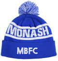 MONASH BLUES FOOTBALL CLUB BEANIE, CUSTOM MAKE ROLL-UP OR LONGLINE ACRYLIC BEANIES. YES WE WILL HELP 