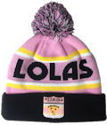 PIZZALOLA BEANIE WINTER HATS CUSTOM MAKE ROLL-UP WITH POM POM OR LONGLINE ACRYLIC BEANIES. YES WE WILL HELP 