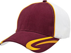LEFT FRONT VIEW OF BASEBALL HAT