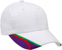 RIGHT FRONT VIEW OF BASEBALL HAT