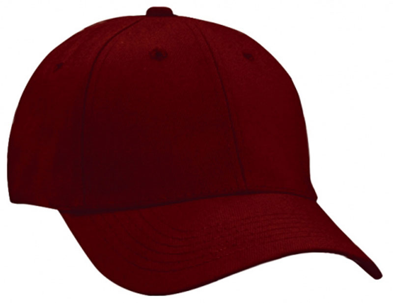 FRONT VIEW OF BASEBALL CAP MAROON ... 2e1dc45f7db