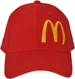 FRONT OF BASEBALL CAP WITH MCDONALDS LOGO EMBROIDERED ON FRONT PANEL CAN BE MADE IN YOUR COLOURS