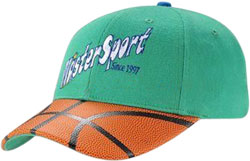 CUSTOM MAKE BASKETBALL LEATHER BRIM LOOK CAP, CAN BE MADE IN ANY COLOURWAY TO YOUR DESIGN