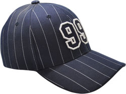 RIGHT FRONT VIEW OF HAT WITH EMBROIDERED LOGO