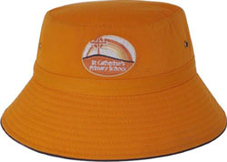 CHILDS BUCKET HAT WITH REAR TOGGLE CROWN ADJUSTER 54*-50CM