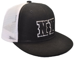 CUSTOM MAKE ACRYLIC/MESH FLAT BRIM DECORATED FITTED OR SNAPBACK, YOU CHOOSE