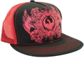 CUSTOM MAKE ACRYLIC FLATBRIM CAP WITH CONTRAST STITCHING AND FULL CROWN PRINT