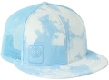 CUSTOM MAKE ACRYLIC FLATBRIM CAP CLOUD PRINT FABRIC WITH WITH EMBROIDERED LOGO