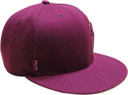 CUSTOM MAKE ACRYLIC FLAT BRIM DECORATED WITH SIDE TAG FITTED OR SNAPBACK, YOU CHOOSE
