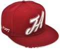 CUSTOM MAKE ACRYLIC SNAPBACK FLATBRIM HATS MAROON WITH 3D EMBROIDERY