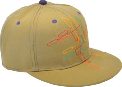 CUSTOM MAKE ACRYLIC FLAT BRIM DECORATED WITH CONTRAST STITCHING & EYELETS FITTED OR SNAPBACK, YOU CHOOSE