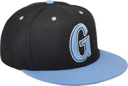 CUSTOM MAKE ACRYLIC FLAT BRIM DECORATED WITH CONTRAST PEAK & EYELETS & BUTTON FITTED OR SNAPBACK, YOU CHOOSE