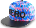 CUSTOM MAKE ACRYLIC FABRIC SNAPBACK FLAT BRIM HAT WITH LEATHER BRIM 								HOT PINK & AQUA WITH 3D EMBROIDERY