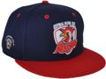 CUSTOM MAKE KOOTINGAL MOONBI ROOSTERS FOOTBALL CLUB FLAB RIM CAP WITH 3D & FLAT EMBROIDERY