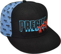 CUSTOM MAKE ACRYLIC FLAT BRIM DECORATED WITH SINGLE PANEL PATTERN AND 3D LOGO