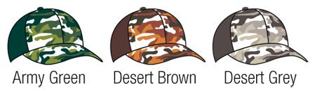 CAMO TRUCKER HAT CAMOUFLAGE COLOUR OPTIONS