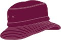 CHILDS BUCKET HAT WITH REAR TOGGLE CROWN ADJUSTER 54*-50CM MAROON