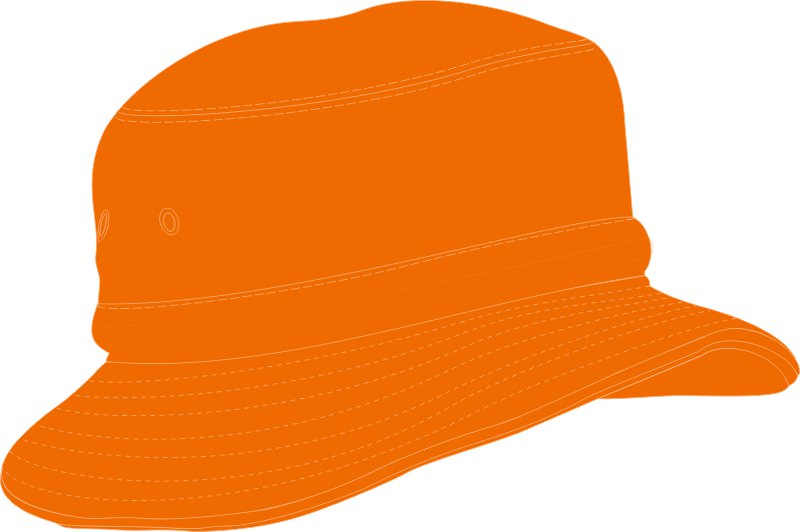 ... CHILDS BUCKET HAT WITH REAR TOGGLE CROWN ADJUSTER 54 -50CM ORANGE 515a5980451
