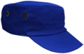 OFF THE SHELF LIGHTWEIGHT COTTON FABRIC MILITARY CAP WITH SIDE BREATHER EYELETS ROYAL BLUE