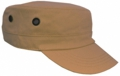 OFF THE SHELF LIGHTWEIGHT COTTON FABRIC MILITARY CAP WITH SIDE BREATHER EYELETS KHAKI