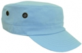 OFF THE SHELF LIGHTWEIGHT COTTON FABRIC MILITARY CAP WITH SIDE BREATHER EYELETS SKY BLUE