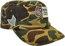 CUSTOM MADE LIGHTWEIGHT CAMOUFLAGE COTTON FABRIC MILITARY CAP