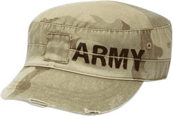 LEFT FRONT VIEW MILITARY CAP