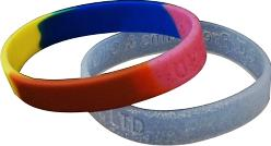 Click to enlarge - DSGLIT-001 SILICONE BRACELET IMPREGNATED WITH GLITTER