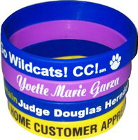 Custom printed silicone wristbands to any pms color