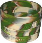 Click to enlarge - ZHSW001 - 2 COLOUR SWIRL SILICONE BRACELETS