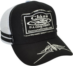 CUSTOM MAKE 1954 TRUCKER HAT DOUBLE PATCH FREYED EMBROIDERED LOGO & PRINT ON PEAK