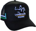 SNAPBACK TRUCKER HAT ACRYLIC WITH EMBROIDERY ON CROWN FOR LANDMARK EQUINE
