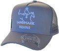 SNAPBACK TRUCKER HAT ACRYLIC WITH EMBROIDERY ON CROWN FOR LANMARK EQUINE GREY COLOUR WITH SIDE BANDING