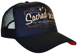 SNAPBACK TRUCKER CAP MICROFIBRE/ACRYLIC WITH SCREEN-PRINT CROWN CHOSEN BY JINDABYNE ADVENTURE BOOKINGS