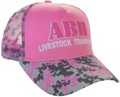 SNAPBACK TRUCKER HAT ACRYLIC WITH 3D EMBROIDERY ON CROWN PINK/GREY/CHARCOAL CAMOUFLAGE