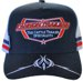 SNAPBACK TRUCKER HAT ACRYLIC WITH EMBROIDERY ON CROWN & PINSTRIPE EMBROIDERY ON THE BILL