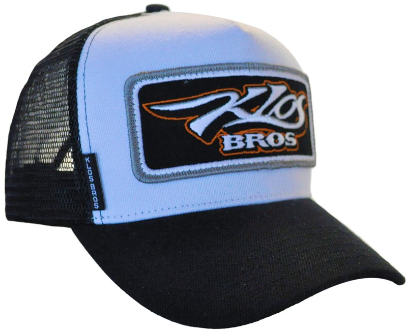 31fe98da4fb SNAPBACK TRUCKER HAT WE HAVE CUSTOMIZED FOR KLOS BROS CUSTOM TRUCKS WITH  THE BIG CHUNKY SEW
