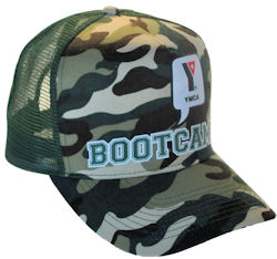 CUSTOM MAKE SNAPBACK CAMOUFLAGE TRUCKER HAT FOREST GREEN WITH PRINT