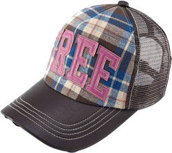 CUSTOM MAKE BRUSHED VELVET TRUCKER HAT QUILTED CROWN WITH PRINTED FABRIC PEAK & GRUNGE EFFECT with MESH PANELS