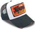 CUSTOM MAKE ACRYLIC SNAPBACK TRUCKER HATS WITH GRUNGE EFFECTS AND DOUBLE FREYED SEW-ON BADGE WITH 3D EMBROIDERY